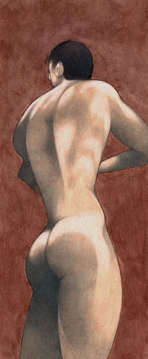 naked man (ORIGINAL SOLD) - federico cortese