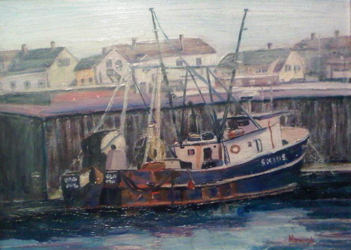 Blue Gloucester Boat - Richard Nowak Fine Art