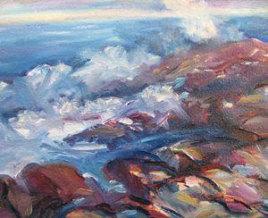 Rocks and Waves - Richard Nowak Fine Art