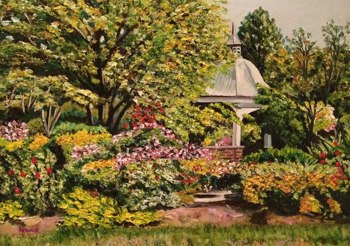 Grandmother's Garden Summer - Richard Nowak Fine Art