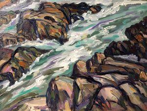 Rocks and Surf, Along Marginal Way