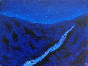 Night at mountains
