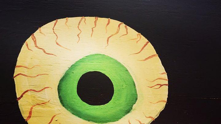 Watching you Green - Aroura Abstract Art