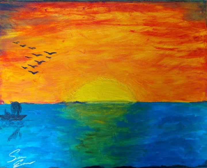 Sunset Ocean - Sean Evans Art Gallery