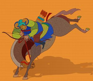 Mongol on Horseback - DICK GAGE