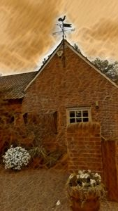 Converted Barn with Weather Vane