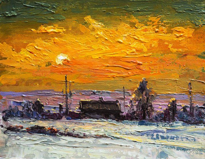 Winter,Original acrylic painting - Artgallery