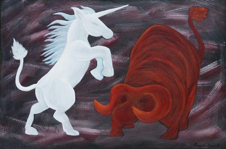 Amalthea Defeating the Red Bull - Morgan Carroll Art