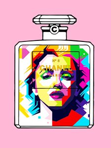 Marilyn Monroe Triangle Portrait Cha