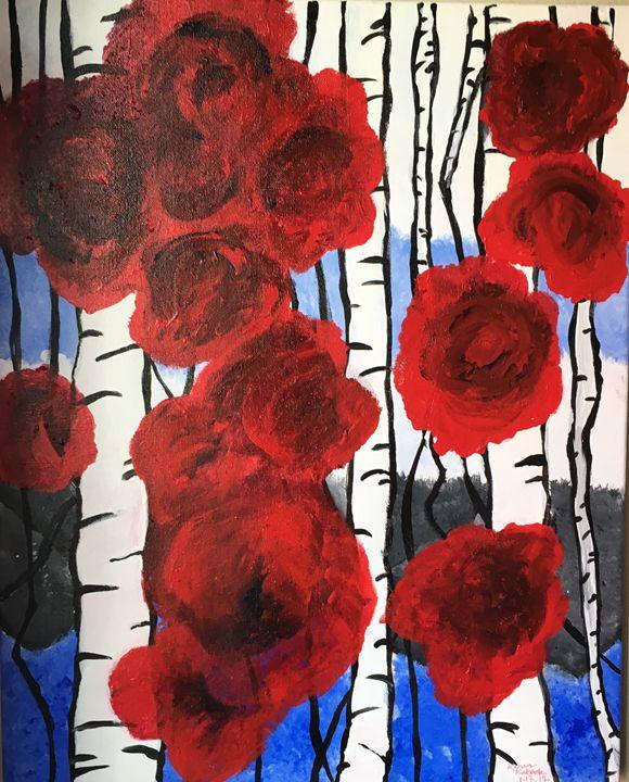"""""""Stripes and Roses"""" - karenkaback"""