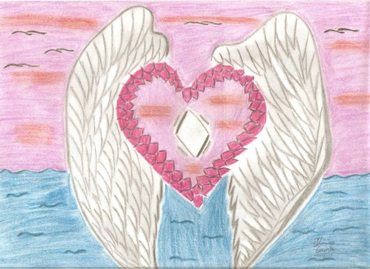 Heart With Wings - Olivia's Creations