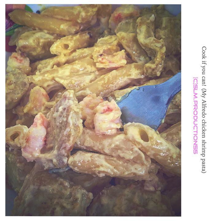 Shrimp Chicken Pasta - Kitchie Panget