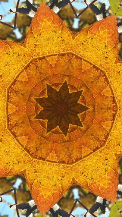 Leafy Kaleidoscope in Gold - JL Robinson