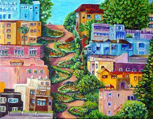 Lombard Street in San Francisco Cali - marinelaArt