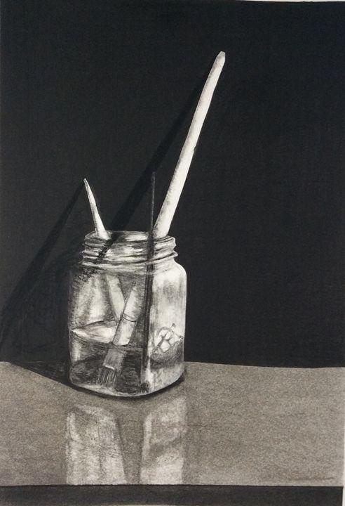 Pencil and Charcoal Study - Beardedone