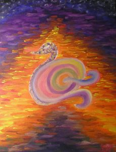 I am a swan in the Lake of Colors