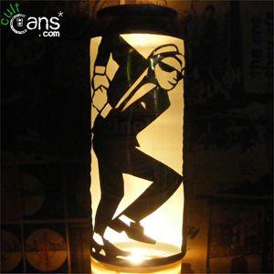 2-Tone Dancer Beer Can Lantern