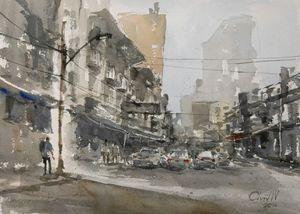 MaitriJit Road, Bangkok - Chanont Watercolor