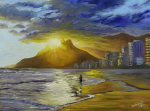 """Sunset at the Beach"""