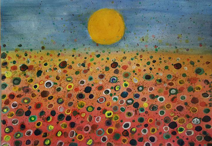 Impressionist Floral Landscape - Syeda Maham Riaz