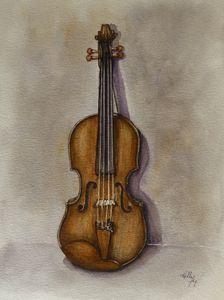 Stradavarius Vilolin Painting - Kelly Mills Paintings