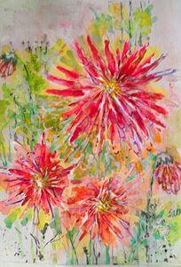 Dahlias - Art By Judi
