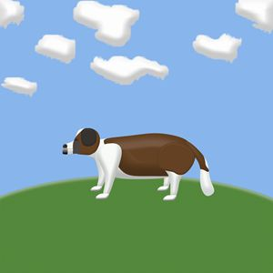 Saint Bernard Dog on a Hill - Laura Nybeck's Art
