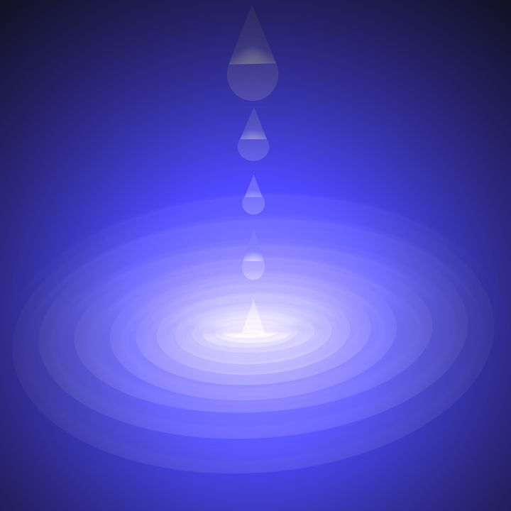 Dark Water Drop Splash With Flash - Laura Nybeck's Art