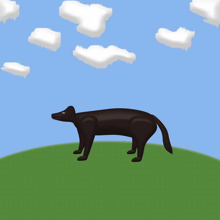 Black Dog On a Sunny HIll - Laura Nybeck's Art