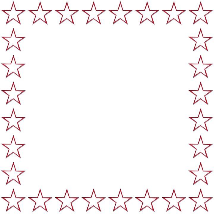 Red Outline Star Frame - Laura Nybeck's Art