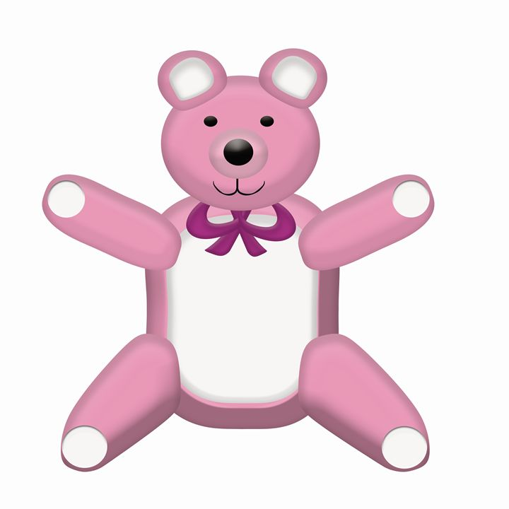 Large Pink Teddy Bear - Laura Nybeck's Art