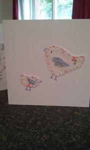 Hand made fabric greeting cards