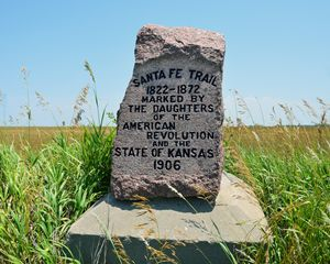 Santa Fe Trail Marker #35 in Kansas - Catherine Sherman