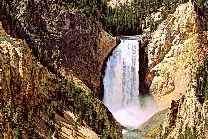 Lower Yellowstone Falls Close Up - Catherine Sherman