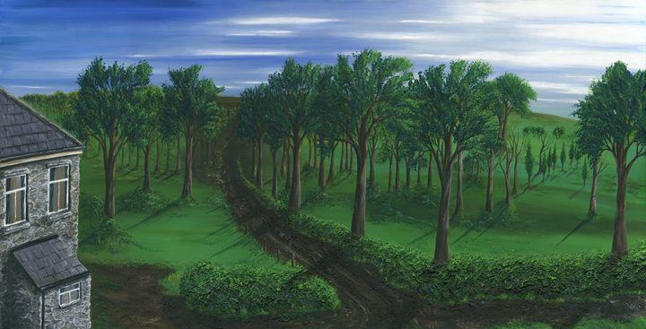 Orchard Road. - Kenneth Clarke Artist.