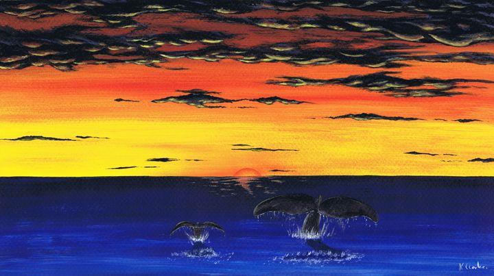 Chasing The Sun. - Kenneth Clarke Artist.