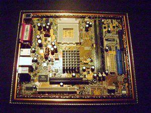 computer framed.