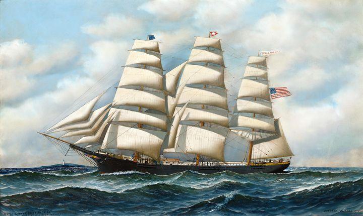 Clipper In Rough Seas - HistoryAntics