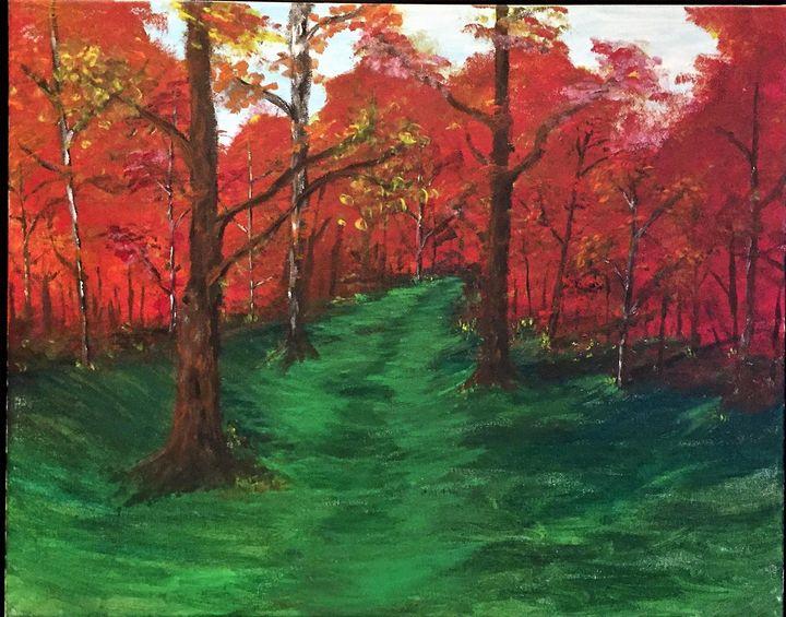 A Walk In Orange and Red - Sarah Kleinhans