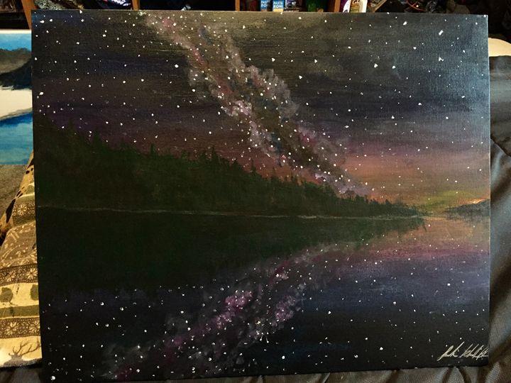 Star Gazing Over Flathead Lake - Sarah Kleinhans