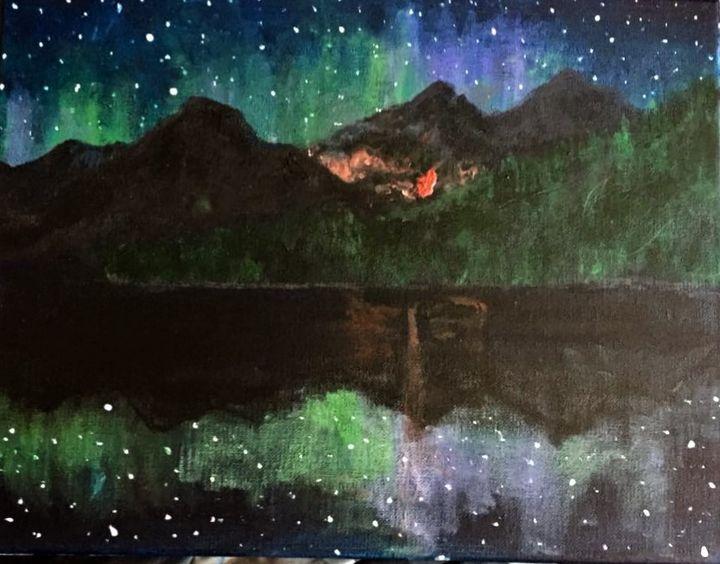 Fire and Northern Lights - Sarah Kleinhans