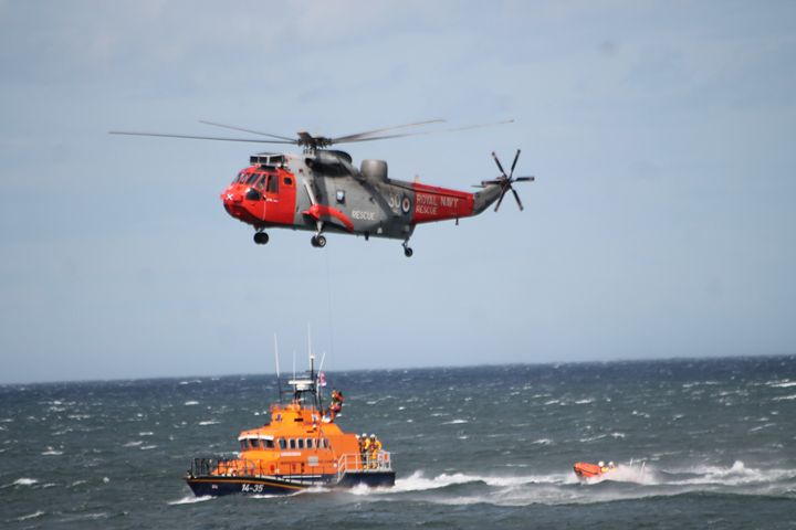 S.A.R Helicopter & Lifeboat - Graham Bruce Photography