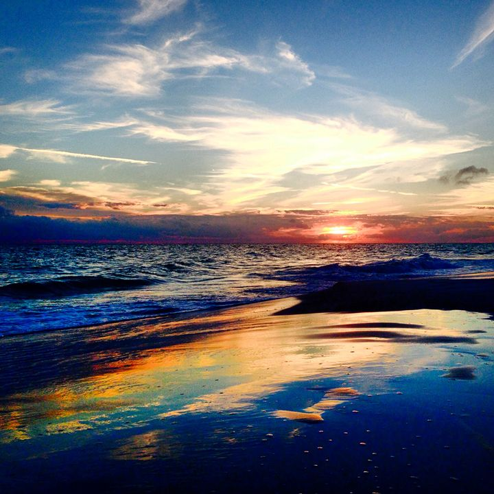 reflective sunset - Allison's photography