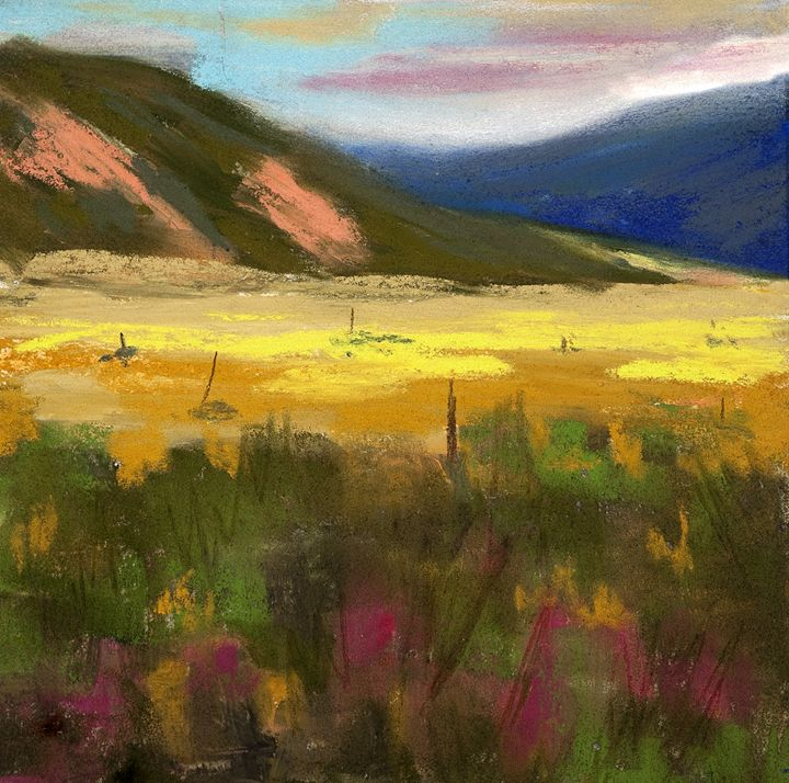 Mountains, Grasses and Fields - DianaTripp Fine Art Gallery