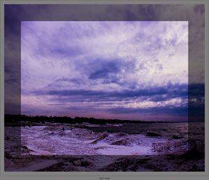 A Wintry Sunset on Lake Michigan