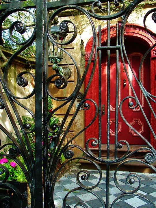 RED DOOR AND GATE - C. A. Cerreto Art & Photography