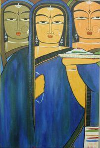 Three Pujarins (Three Worshippers)