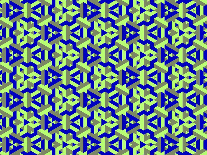 Solid colored pattern of a fractal - Fractal art