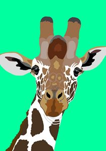 Popart Giraffe