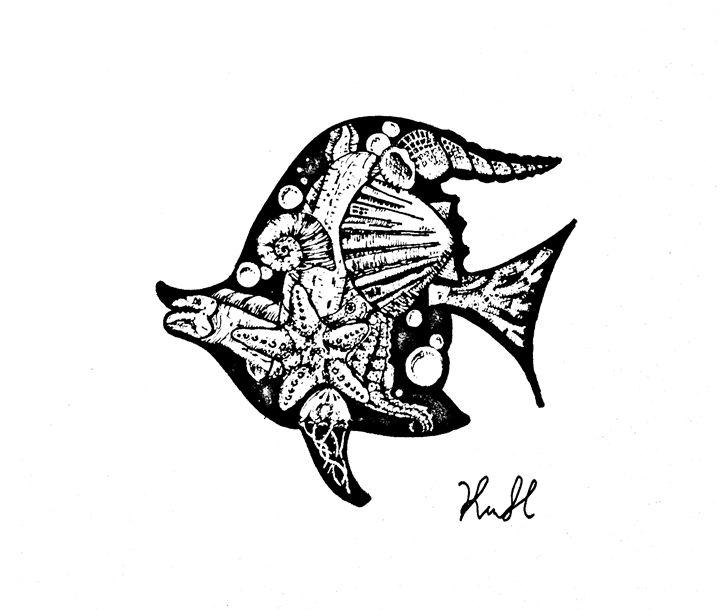 Sea of fish - Unicolor